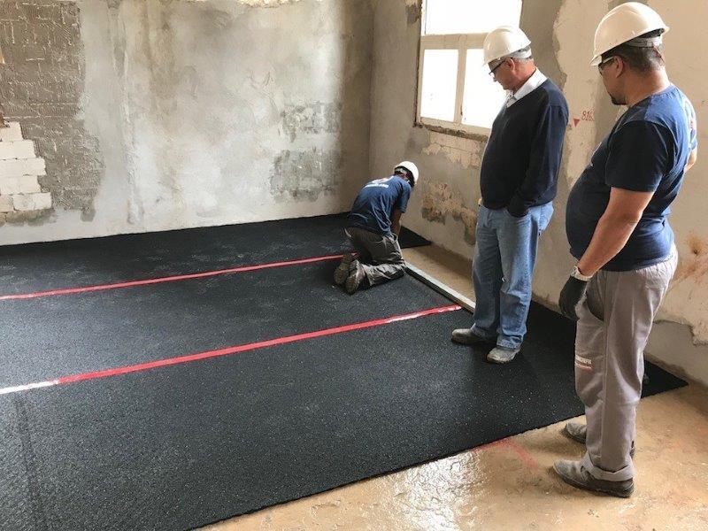 Polimento de piso de concreto seco